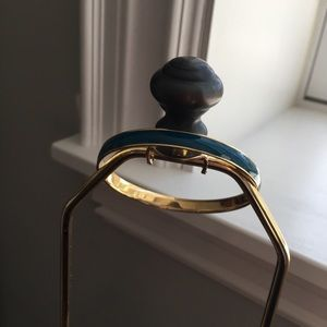 J.CREW Turquois Gold Enamel Bangle Bracelet